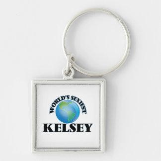 Kelsey más atractivo del mundo llaveros personalizados