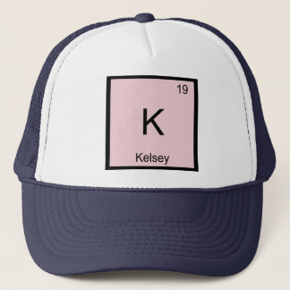 Kelsey  Name Chemistry Element Periodic Table Trucker Hat