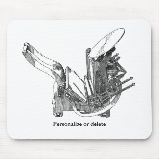 Kelsey OS letterpress printing press mousepad