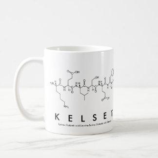 Kelsey peptide name mug