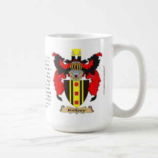 Kelsey, the Origin, the Meaning and the Crest Coffee Mug