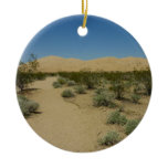 Kelso Dunes at Mojave National Park Ceramic Ornament