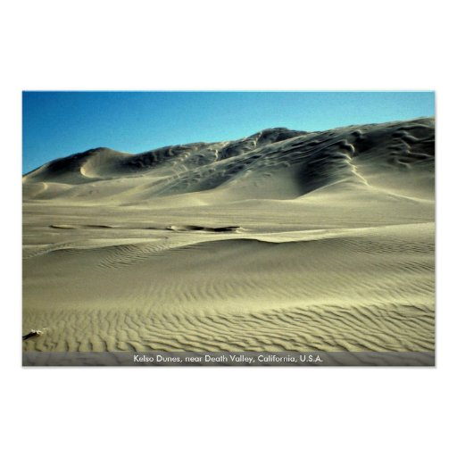 Kelso Dunes, near Death Valley, California, U.S.A. Posters