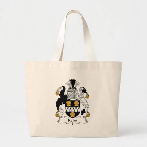 Kelso Family Crest Tote Bags