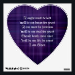 "KELTAR Druid Binding Vows Heart Wall Decal<br><div class=""desc"">Wedding Vows</div>"