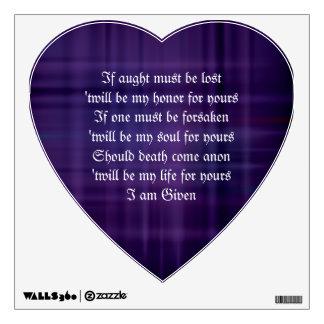 KELTAR Druid Binding Vows Heart Wall Decal