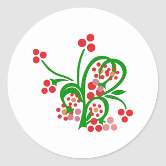 Kelten flores ornamento celtic flowers pegatina redonda