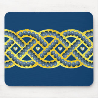 Keltic Knot With Blueberries Mouse Pad