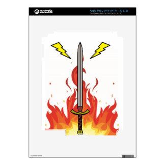 Kelvin Sword Logo Decals For iPad 3