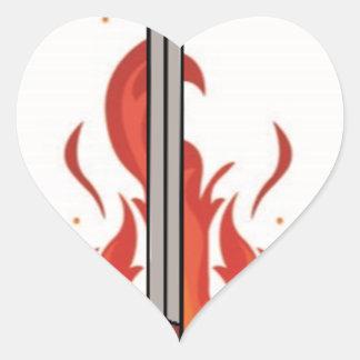 Kelvin Sword Logo Heart Sticker