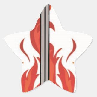 Kelvin Sword Logo Star Sticker