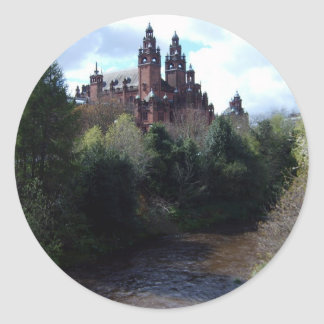 Kelvingrove Museum Round Sticker
