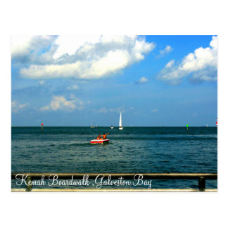 Kemah Boardwalk Galveston Bay Postcard
