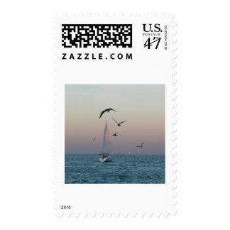 Kemah sailboat postage