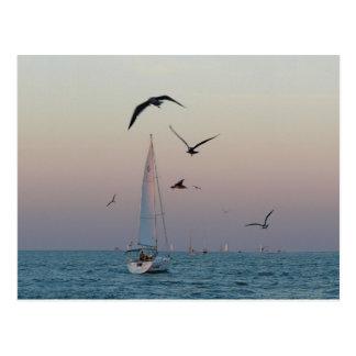 Kemah sailboat postcard