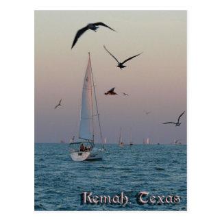 Kemah Sailboat postcard - customized