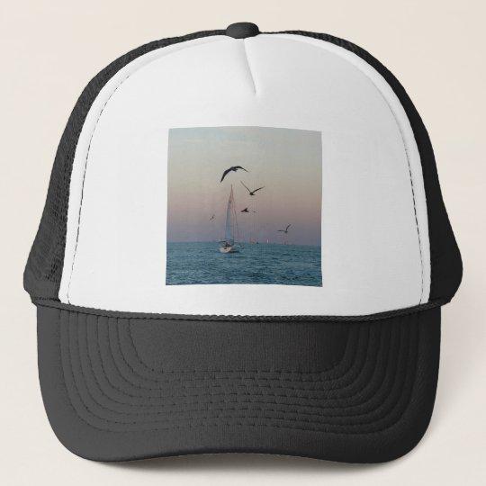 Kemah sailboat trucker hat