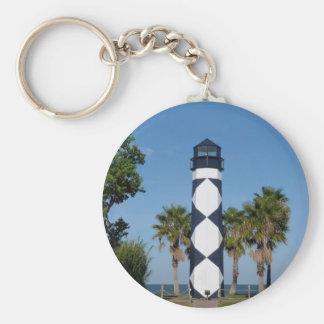 Kemah, TX  Boardwalk Basic Round Button Keychain