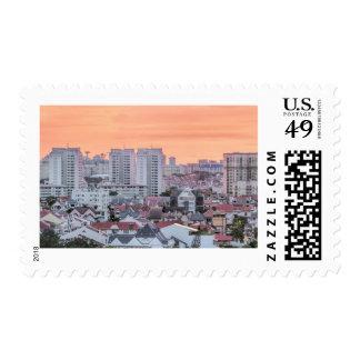 Kembangan Residential Area in Singapore Postage