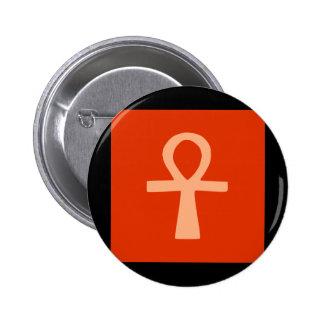 Kemetism symbol orange button