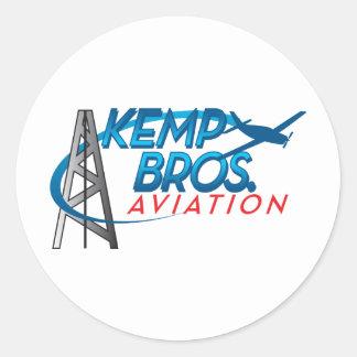 Kemp Bros. Aviation Classic Round Sticker
