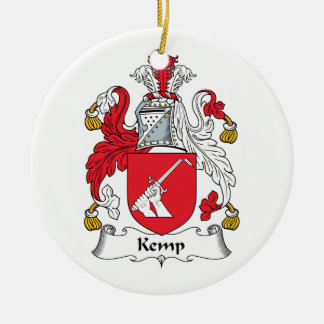 Kemp Family Crest Christmas Tree Ornament