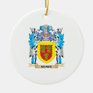 Kempe Coat of Arms - Family Crest Christmas Ornament