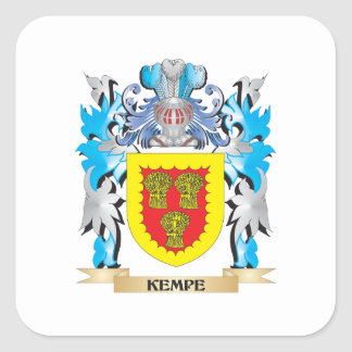 Kempe Coat of Arms - Family Crest Square Sticker