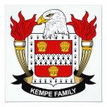 Kempe Family Crest 5.25x5.25 Square Paper Invitation Card