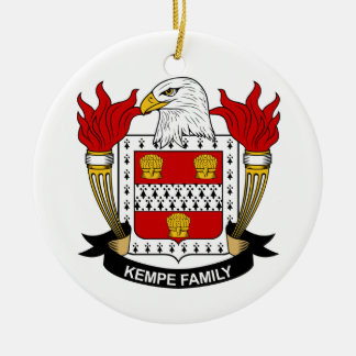 Kempe Family Crest Christmas Ornament