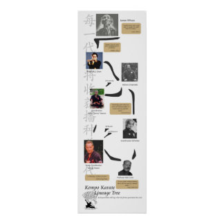 Kempo Lineage Tree Poster