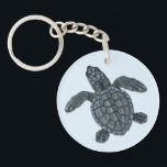 "Kemp&#39;s Ridley Sea Turtle Hatchling Keychain<br><div class=""desc"">This design features an image of a Kemp&#39;s ridley sea turtle hatchling illustrated by artist Dawn Witherington. Dawn&#39;s personal encounters with sea turtles has lent realistic detail to her art.</div>"