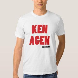 ¡KEN AGEN! ¡Voto Ken Livinstone para el alcalde! Polera