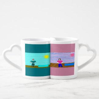 ken and barbi couples coffee mug