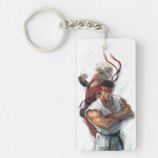 Ken and Ryu 2 Keychain