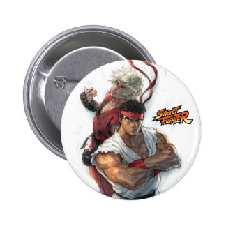 Ken and Ryu Pinback Buttons