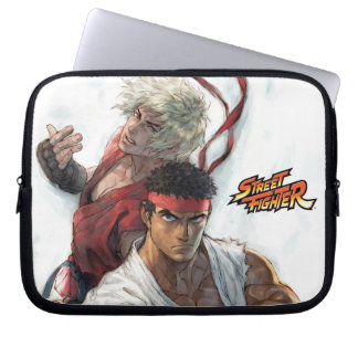 Ken and Ryu Laptop Computer Sleeves