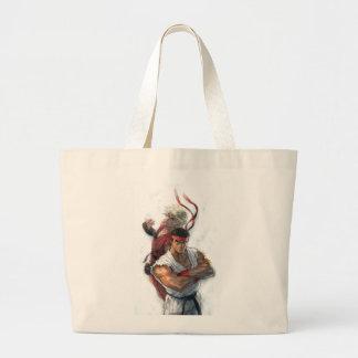 Ken and Ryu Large Tote Bag
