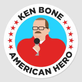 Ken Bone American Hero Stickers (round)