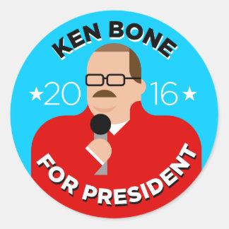 Ken Bone for President 2016 Stickers (round)
