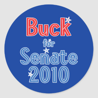 Ken Buck for Senate 2010 Star Design Classic Round Sticker