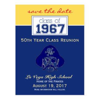 {Ken} Class Reunion Save-the-Date Announcement Postcard