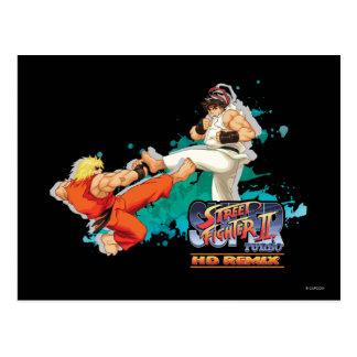 Ken contra Ryu 2 Tarjeta Postal