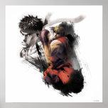 Ken contra Ryu Poster
