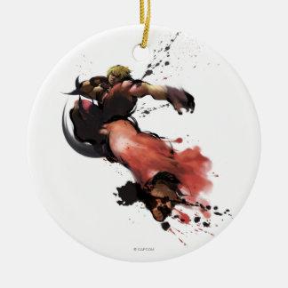 Ken Kick Ceramic Ornament