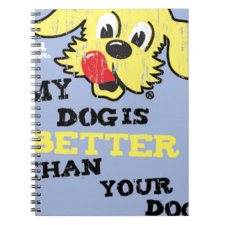 Ken L-Ration T Shirt My Dogs Better by Retrobrand. Notebook