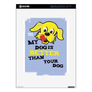 Ken L-Ration T Shirt My Dogs Better by Retrobrand. Skins For iPad 3