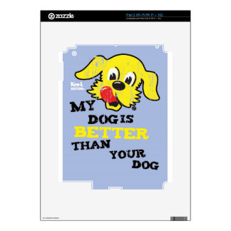 Ken L-Ration T Shirt My Dogs Better by Retrobrand. Skins For The iPad 2