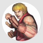 Ken listo para luchar pegatinas redondas