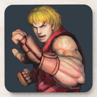 Ken listo para luchar posavaso